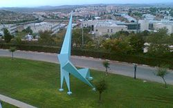 Statue in Ariel university center.jpg